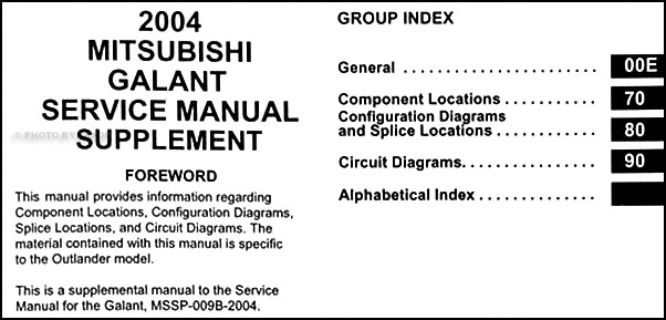 2004 mitsubishi galant wiring diagram manual original Home Alarm Wiring Diagrams