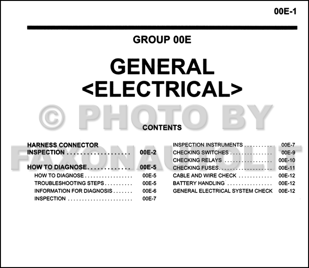 Mitsubishi Outlander 2004 Wiring Diagram Trusted Endeavor Limited Manual Original Table