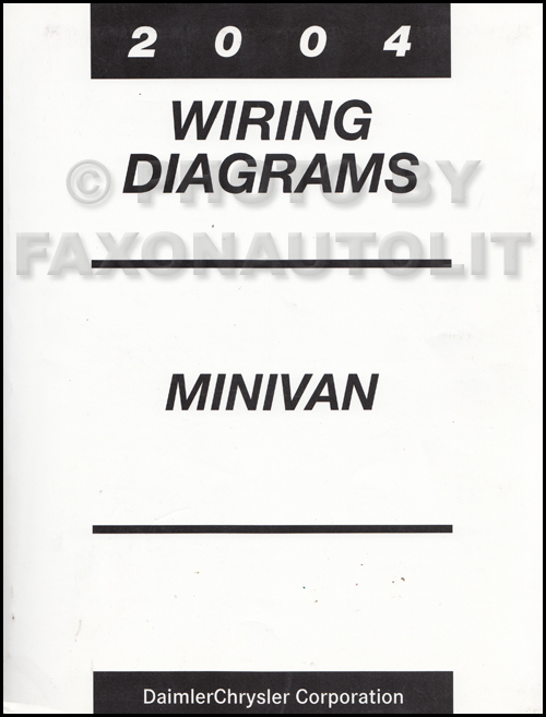 2004 chrysler dodge minivan wiring diagram manual original caravan town   country
