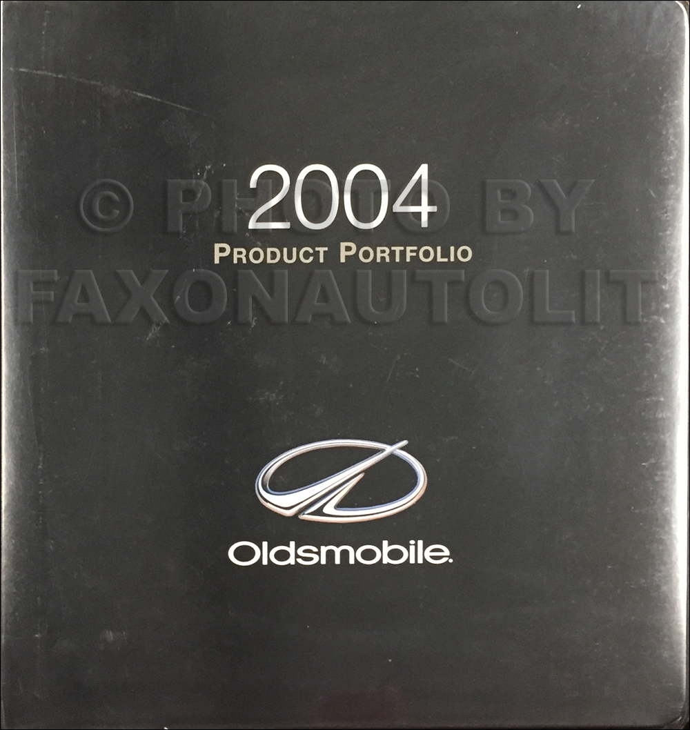 2004 Oldsmobile Color & Upholstery Album/Data Book Original