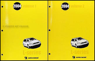 2004 Saturn L300 Repair Manual 2 Volume Set Original