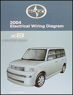 2004 Scion xB Wiring Diagram Manual Original on