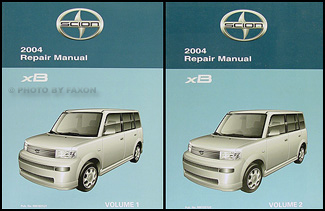 2004 Scion xB Repair Manual Original 2 Volume Set