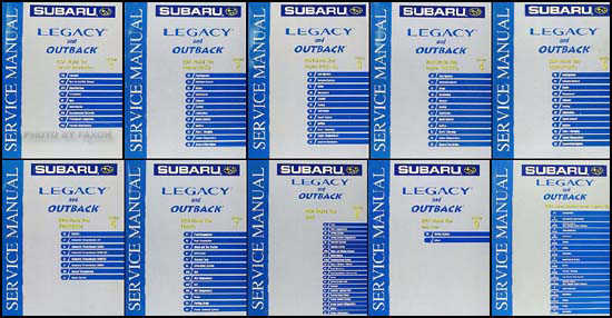 2004 Subaru Legacy, Outback, Baja Repair Manual Set Original