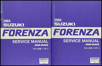 2004 Suzuki Forenza Repair Shop Manual Set Original