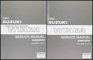 2004 Suzuki Vitara Repair Manual Set Original