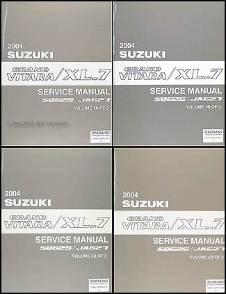 2004 Suzuki Grand Vitara & XL-7 Repair Manual 4 Volume Set Original
