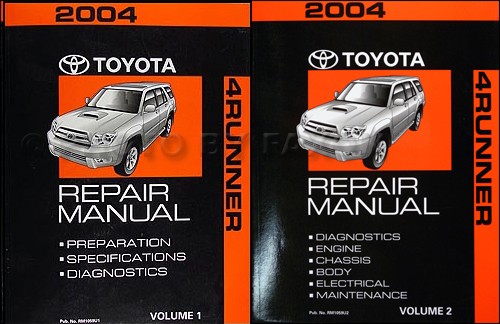 2004 Toyota 4runner Repair Diagnosis Manual Volume 1 Only