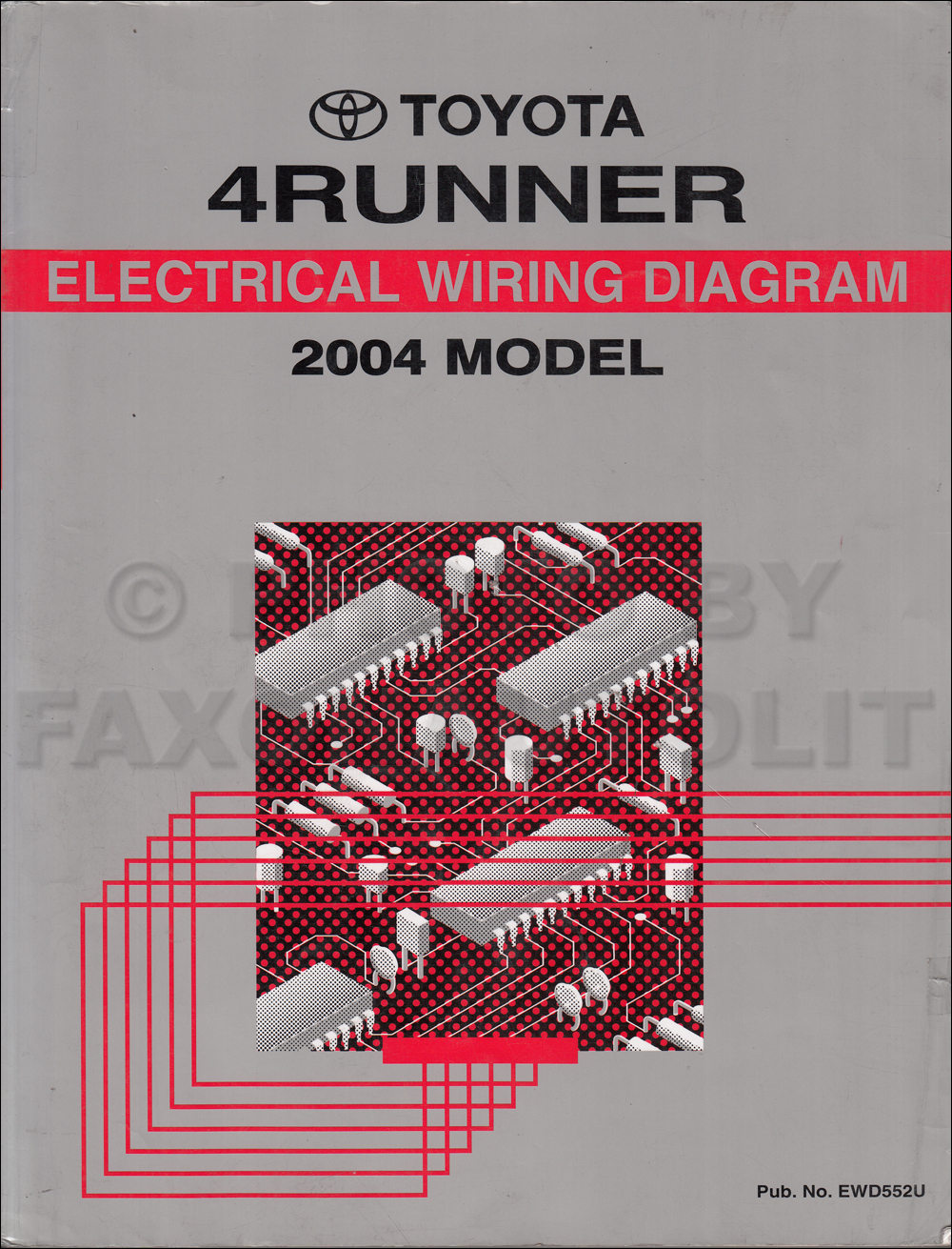 2004 Toyota 4Runner Wiring Diagram Manual Original on