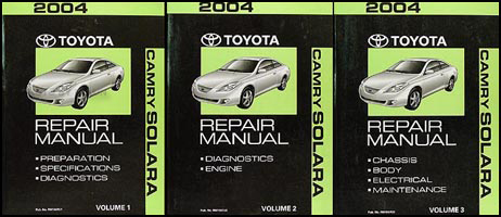 2004 Toyota Camry Solara Repair Manual Original Set