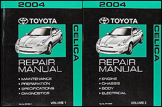 2004 Toyota Celica Repair Manual 2 volume Set Original