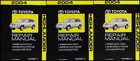 2004 Toyota Highlander Repair Manual Volume 1 Original