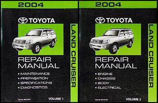 2004 Toyota Land Cruiser Repair Manual Original Set