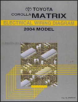 2004 toyota corolla matrix wiring diagram manual original. Black Bedroom Furniture Sets. Home Design Ideas