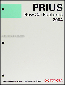 2004 Toyota Prius Features Manual Original