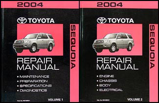 2004 Toyota Sequoia Repair Manual Original Set