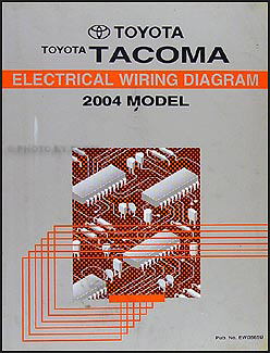 2004 toyota tacoma pickup wiring diagram manual original rh faxonautoliterature com 2004 tacoma headlight wiring diagram 2004 tacoma trailer wiring diagram