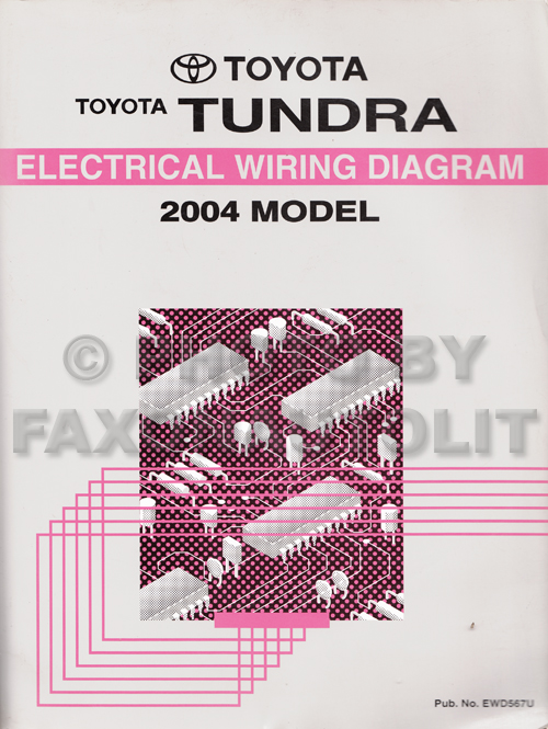 2004 Toyota Tundra Wiring Diagram Manual Originalrhfaxonautoliterature: Toyota Tundra Wiring Diagram At Gmaili.net