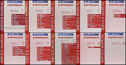 2004 Subaru Impreza & WRX Repair Manual 10 Volume Set Original