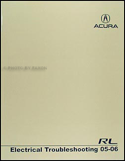 2005-2006 Acura RL Electrical Troubleshooting Manual Original