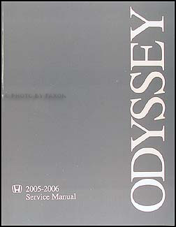 2005-2006 Honda Odyssey Repair Shop Manual Original
