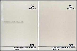 2005-2007 Acura RL Shop Manual Original 2 Volume Set