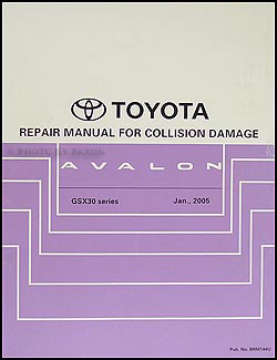 2005-2009 Toyota Avalon Body Collision Repair Manual Original
