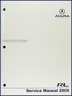 2005 Acura RL Shop Manual Original