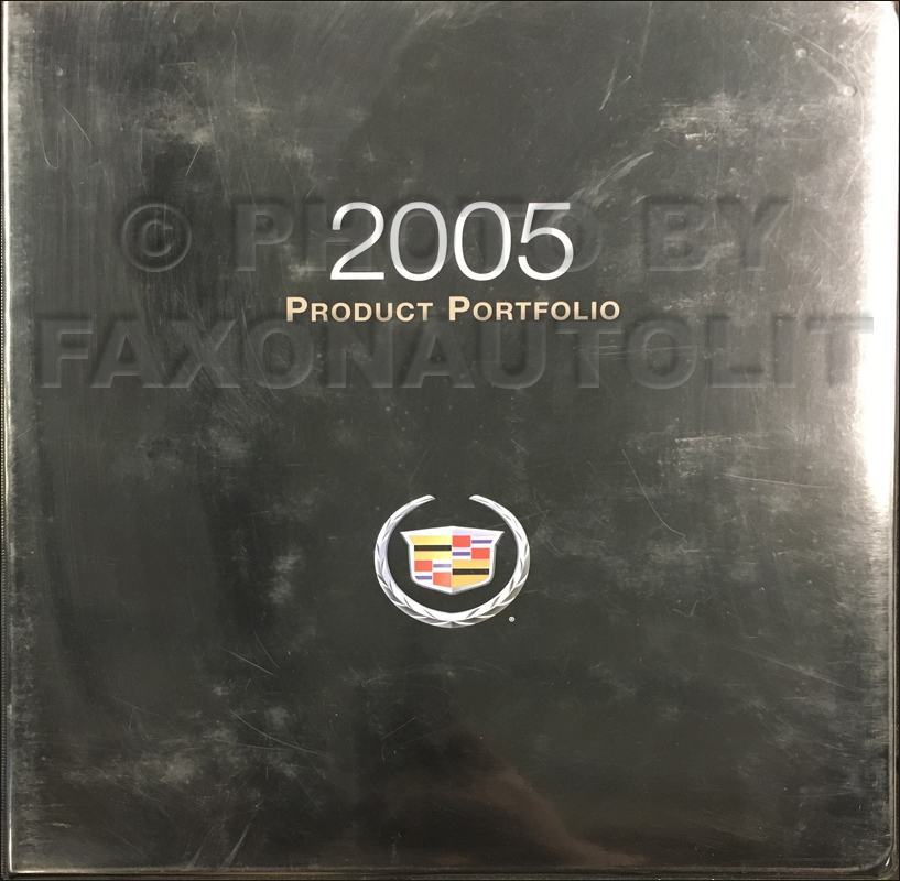 2005 Cadillac Product Portfolio - Data Book and Color & Upholstery Album