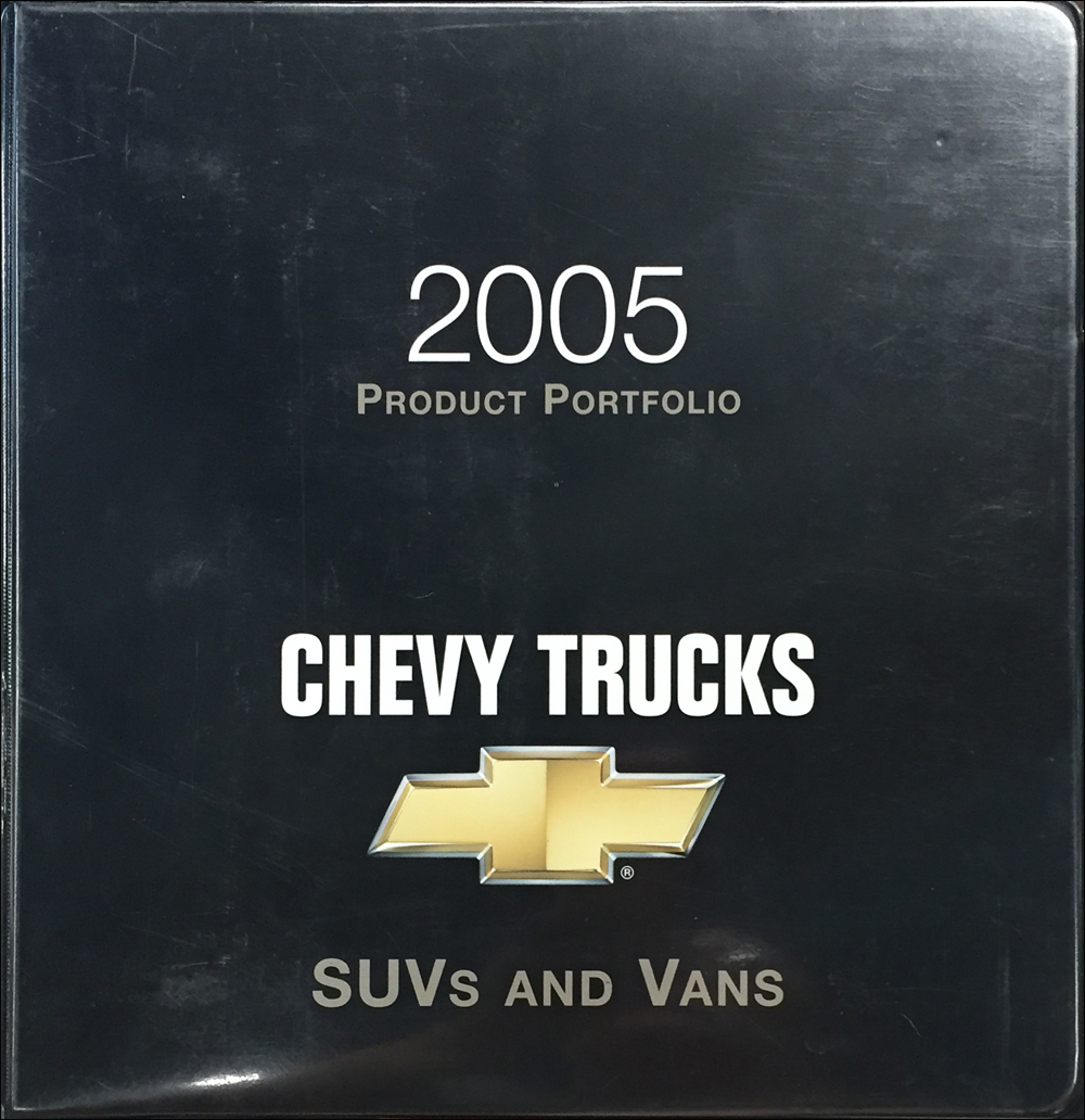 2005 Chevrolet SUV & Van Color & Upholstery Dealer Album/Data Book Original
