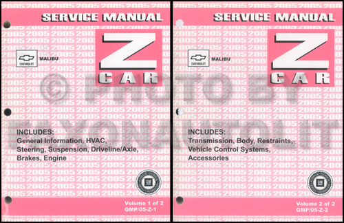 2005 Chevrolet Malibu Service Manual Original Set