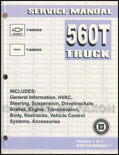 2004 T Series Tilt Cab Medium Duty Truck Repair Manual Original