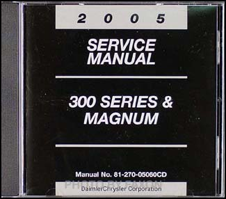 2005 Chrysler 300 & Dodge Magnum CD-ROM Service Manual