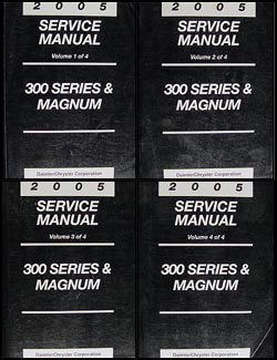2005 Chrysler 300 Dodge Magnum Repair Manual 4 Vol Set Original