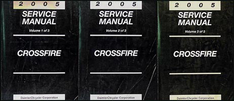 2005 Chrysler Crossfire Repair Manual Set Original