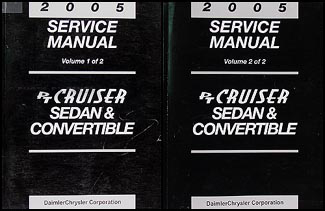 2005 Chrysler PT Cruiser Shop Manual Original 2 Volume Set