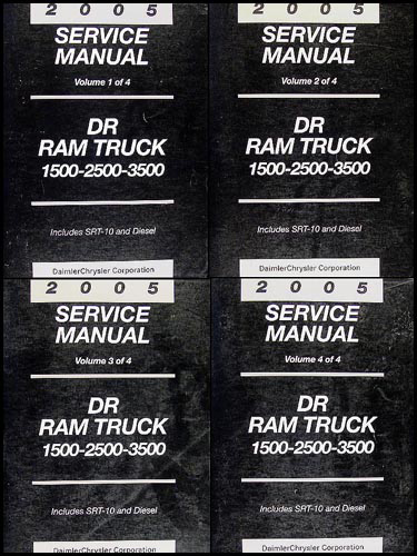 2005 dodge ram truck repair shop manual 4 vol  set original 1500 2500 3500