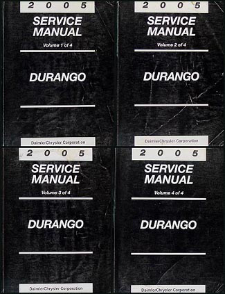 2005 Dodge Durango Repair Manual Original 4 Volume Set