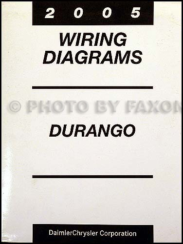 dodge durango wiring diagram manual original