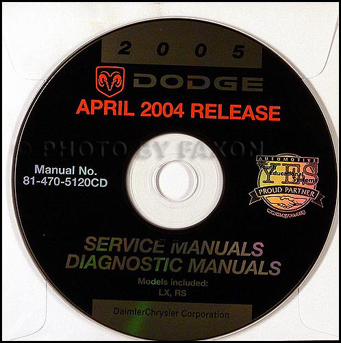 2005 Dodge Magnum and Avenger Shop Manual on CD-ROM