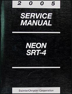 2005 Dodge Neon Shop Manual Original