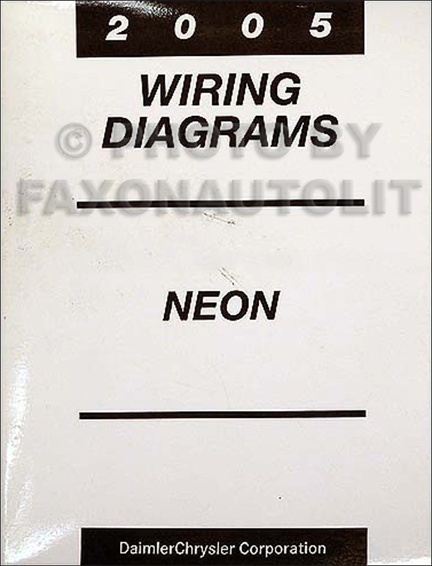 [ZHKZ_3066]  2005 Dodge Neon Wiring Diagram Manual Original | Dodge Neon Wiring Schematic |  | Faxon Auto Literature
