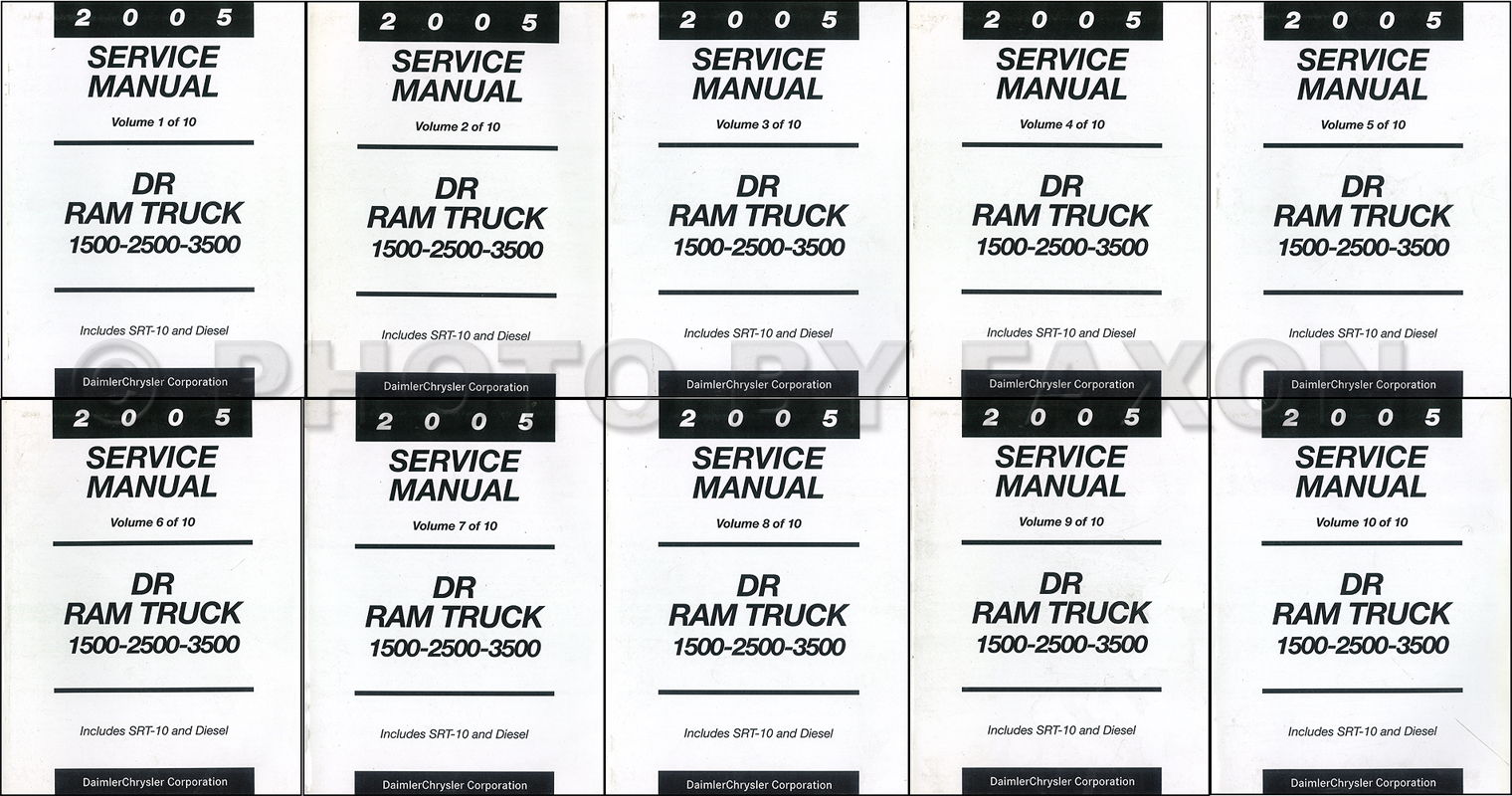2005 Dodge Ram Truck Repair Shop Manual 10 Vol. Set Factory Reprint 1500  2500 3500