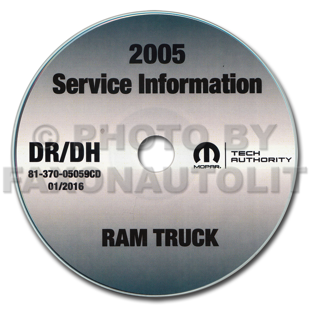 2005 Dodge Ram Truck 1500/2500/3500 Repair Shop Manual CD-ROM