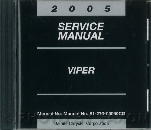 2005 Dodge Viper Repair Shop Manual on CD-ROM