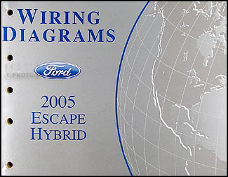 2005 Ford Escape Hybrid Wiring Diagram Manual Original