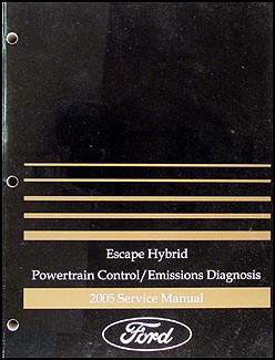 2005 Ford Escape Hybrid Engine Diagnosis Manual Original