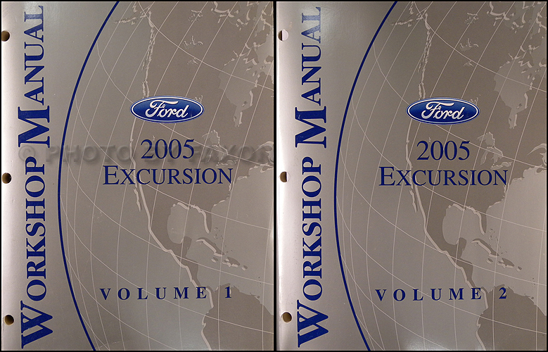 2005 Ford Excursion Repair Shop Manual Set