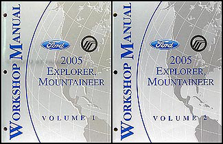 2005 Ford Explorer Mercury Mountaineer Repair Shop Manual Original Set