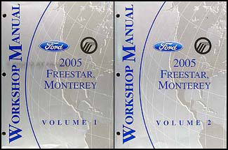 2005 Ford Freestar & Mercury Monterey Repair Manual Set Original